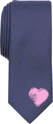 Bar III Men's Abstract Heart Motif Skinny Tie, Created for Macy's