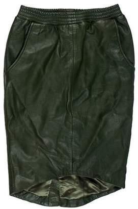 One Teaspoon One x Leather Knee-Length Skirt