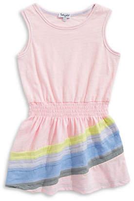 Splendid Rainbow Cotton Dress