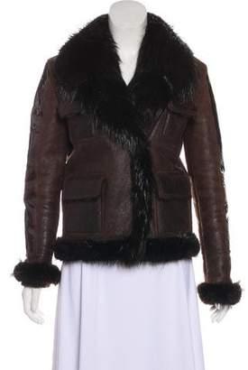 Tom Ford Fur-Trimmed Leather Jacket