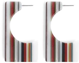 Forever 21 Striped Drop Earrings