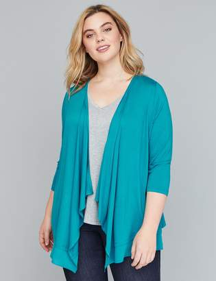 Lane Bryant Wrapped Chiffon-Trim Cardigan