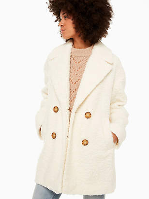 Kate Spade Teddy Coat, French Cream - Size M