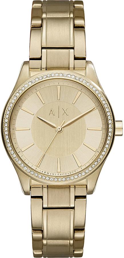 Armani Exchange Armani Exchange AX5441 crystal-embellished gold watch