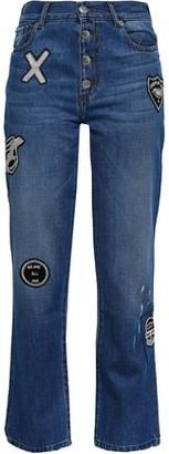 Each X Other Appliqued Mid-rise Bootcut Jeans