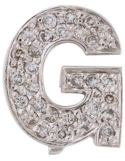 14K Diamond Letter G Slider Pendant