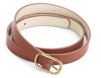 No Boundaries Women's Skinny Faux Leather Belt