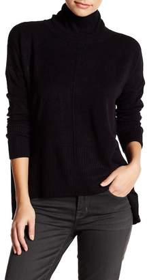 Sweet Romeo Seamed Front Mock Turtleneck Sweater (Petite) $78 thestylecure.com