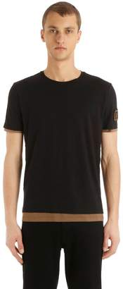 Fendi Ff Patch Double Layer Jersey T-Shirt