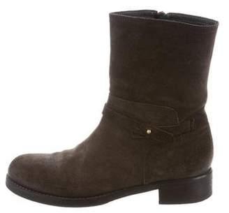 Alberto Fermani Suede Mid-Calf Boots