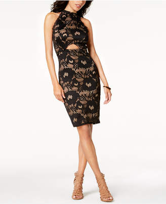 Material Girl Juniors' Lace Cutout Bodycon Dress, Created for Macy's