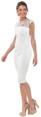 Hale Bob Janese Lace Crepe Knit Dress