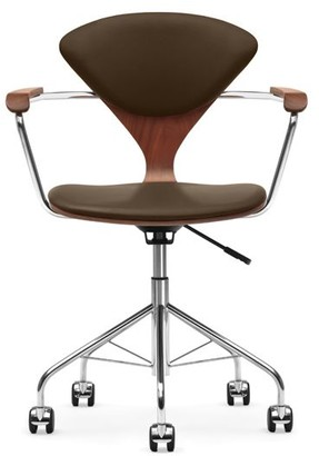 Design Within Reach Cherner Task Chair with Upholstered Seat Pads