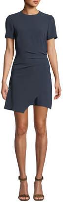 Cinq à Sept Imogen Ruched Crepe Short Tee Dress
