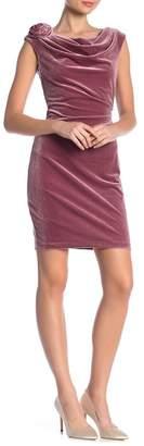 Eliza J Sleeveless Velvet Drape Dress