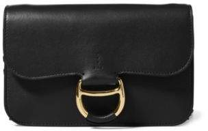 Ralph Lauren Leather Maddie Crossbody Bag Black One Size