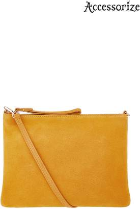 At Next Womens Accessorize Ochre Claudia Leather Crossbody Bag