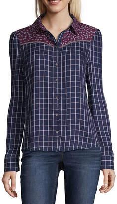 A.N.A Print Mix Western Shirt Modern Fit Long Sleeve Button-Front Shirt