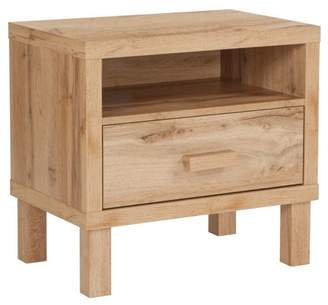 Flash Furniture Heritage Collection 1 Drawer Nighstand with Open Storage in Rustic Oak
