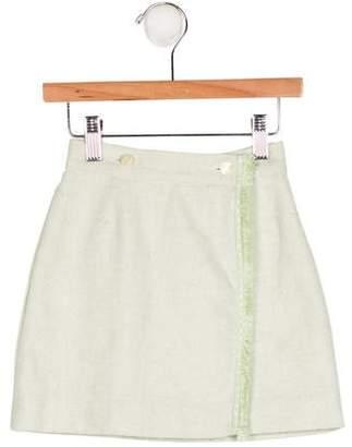 Tartine et Chocolat Girls' Wool-Blend Skirt