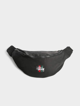 Stussy Unisex Bar Waist Bag in Black