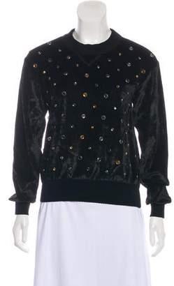 Sonia Rykiel Velvet Embellished Top