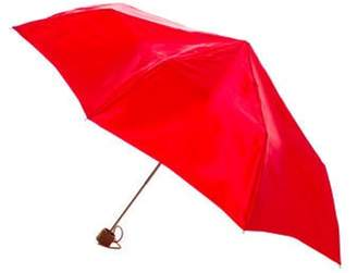 Salvatore Ferragamo Compact Satin Umbrella Red Compact Satin Umbrella