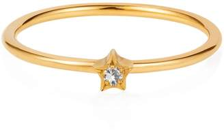 Lee Renee Tiny Star Ring White Sapphire & Gold