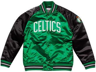 Mitchell & Ness Men Boston Celtics Tough Season Satin Jacket