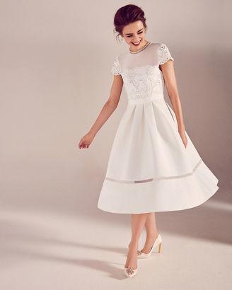 Lace bodice midi dress $515 thestylecure.com
