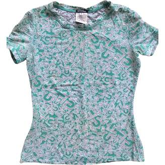Gianfranco Ferre Green Cotton Top for Women Vintage