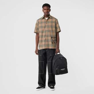 Burberry (バーバリー) - Burberry ショートスリーブ ヴィンテージチェックコットン オーバーサイズシャツ