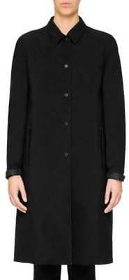 Prada Long Button-Front Coat
