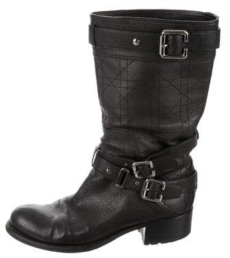Christian Dior Leather Mid-Calf Boots