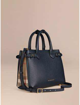 Burberry The Small Banner in Leather and House Check