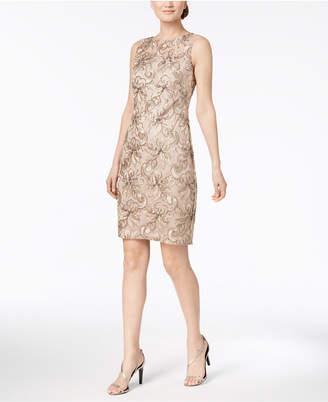 Calvin Klein Embroidered Sheath Dress