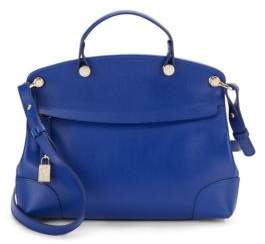 Piper Small Saffiano Leather Satchel $398 thestylecure.com