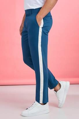 boohoo Tape Detail Smart Cropped Skinny Trouser