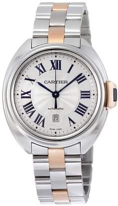 Cartier Women's W2CL0004 Cle De Midsize Analog Display Swiss Automatic Two Tone Watch