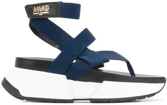 MM6 MAISON MARGIELA strappy platform sandals