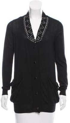 3.1 Phillip Lim Embellished Long Sleeve Cardigan