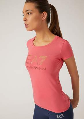Emporio Armani Ea7 Stretch Cotton Jersey T-Shirt
