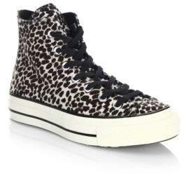 Converse CTAS '70 Cheetah-Print Faux Fur High-Top Sneakers