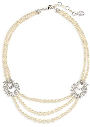Ben-Amun Faux Pearl Multistrand Necklace