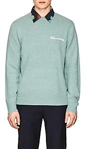 Rag & Bone MEN'S VICTOR EMBROIDERED WOOL SWEATER-OPEN GREEN SIZE XL