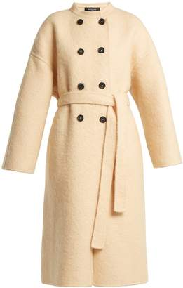 Rochas Double-breasted felted coat