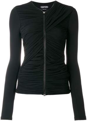 Tom Ford zipped ruched top