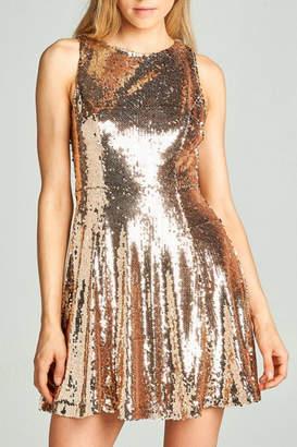 AAKAA Sequin Flare Dress