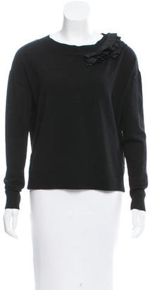 Vera Wang Pleat-Accented Wool Sweater $125 thestylecure.com