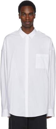 Juun.J White Double Collar Shirt